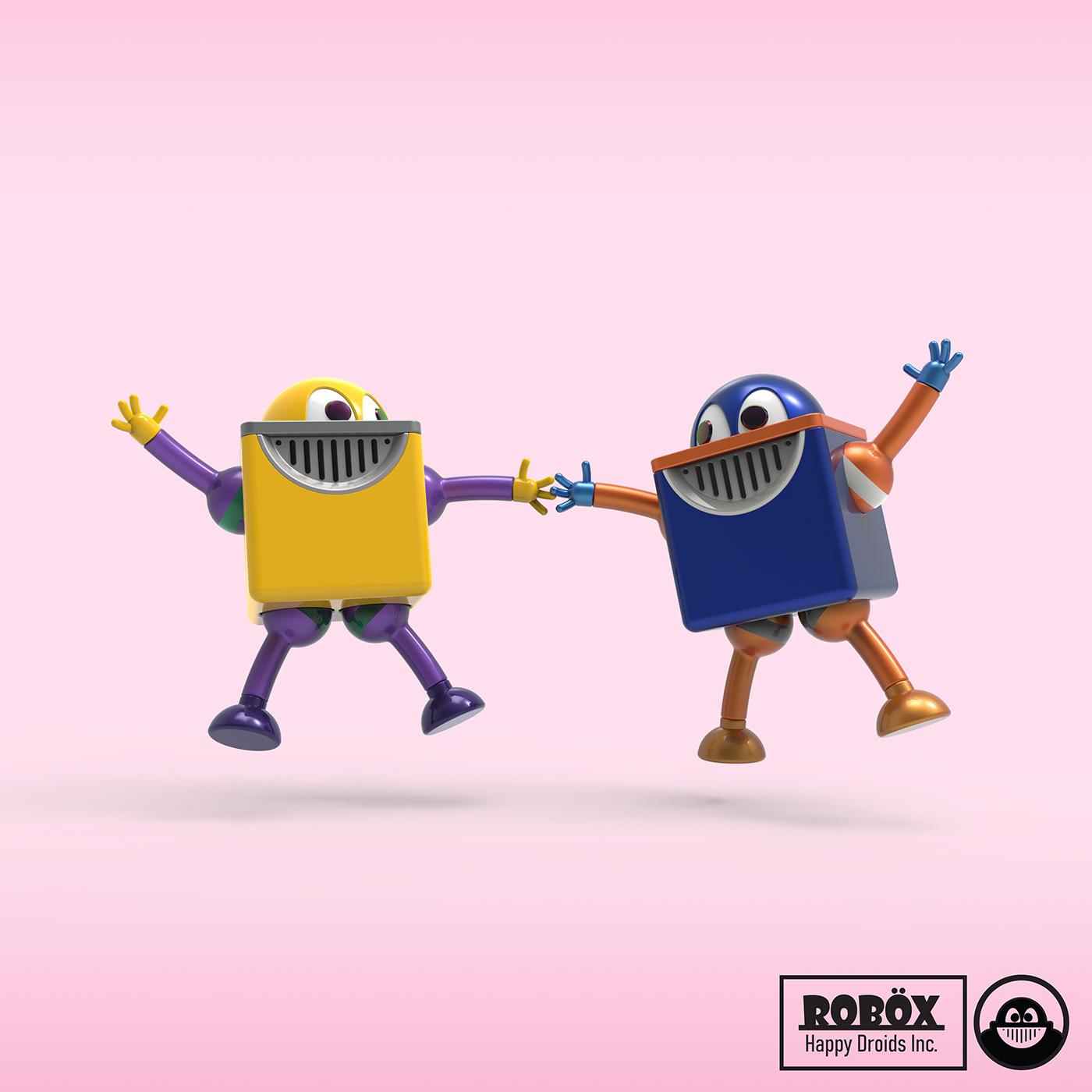 droid friendship happy industrial design  robot robotdesign   toy design