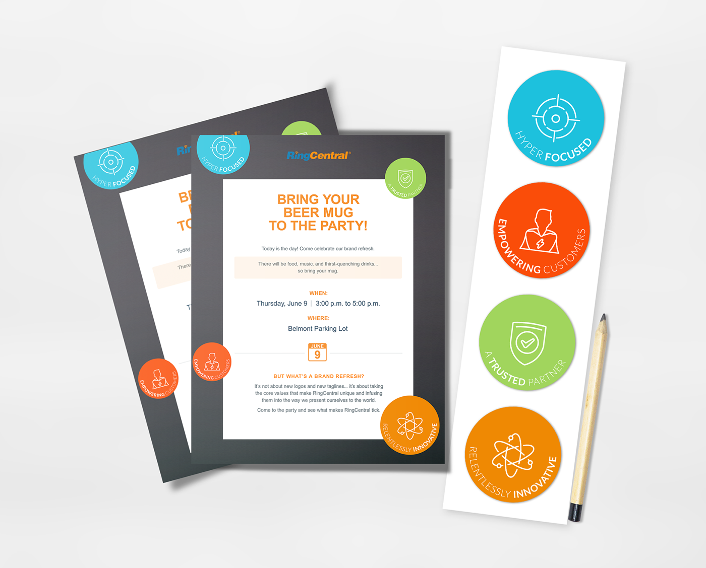 Internal Brand Campaign: RingCentral FITE on Behance