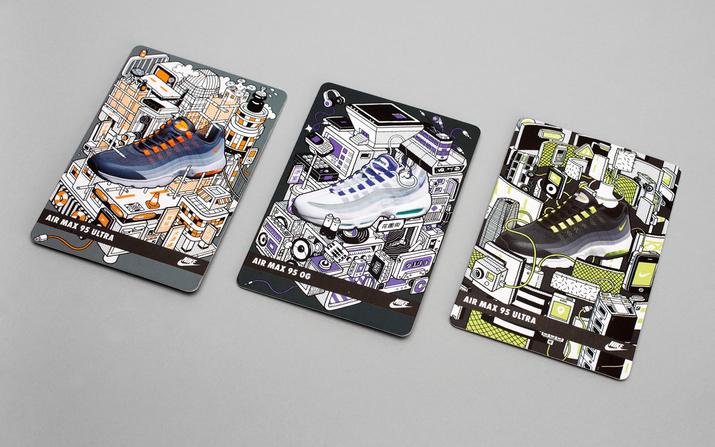 9fff25362d80d7 NIKE AIR MAX 95 COLLECTABLE CARDS on Behance