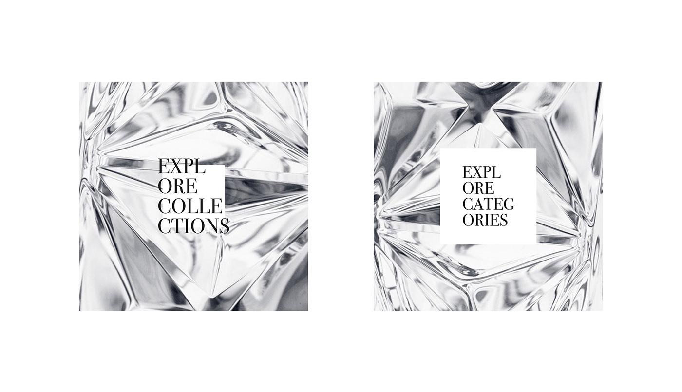 Bohemia Jihlava Website black typo reflection parallax interactive branding  crystal digital branding motion design