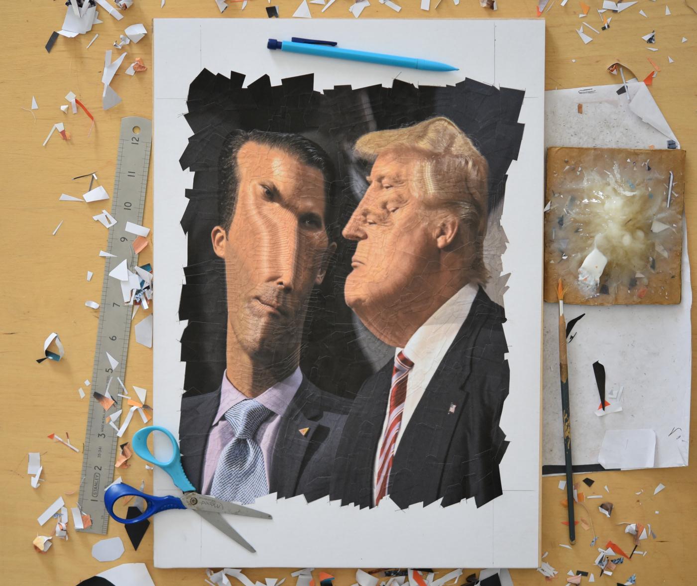 collage paper paper collage portrait surreal surrealism Trump trumpism