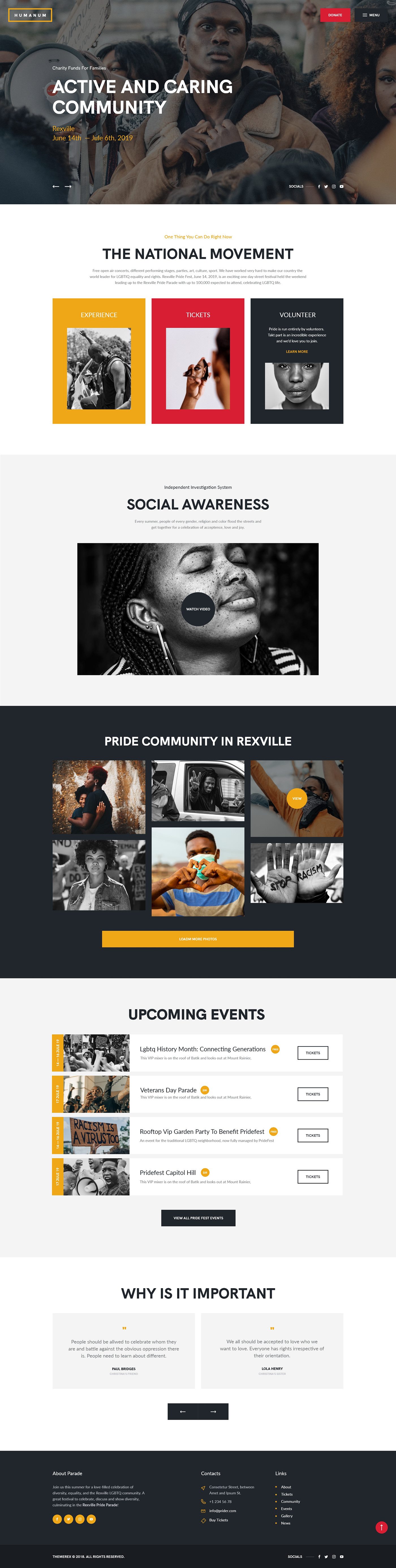 activism Anti-Discrimination BLM donation elementor equality Human rights Woocommerce wordpress theme