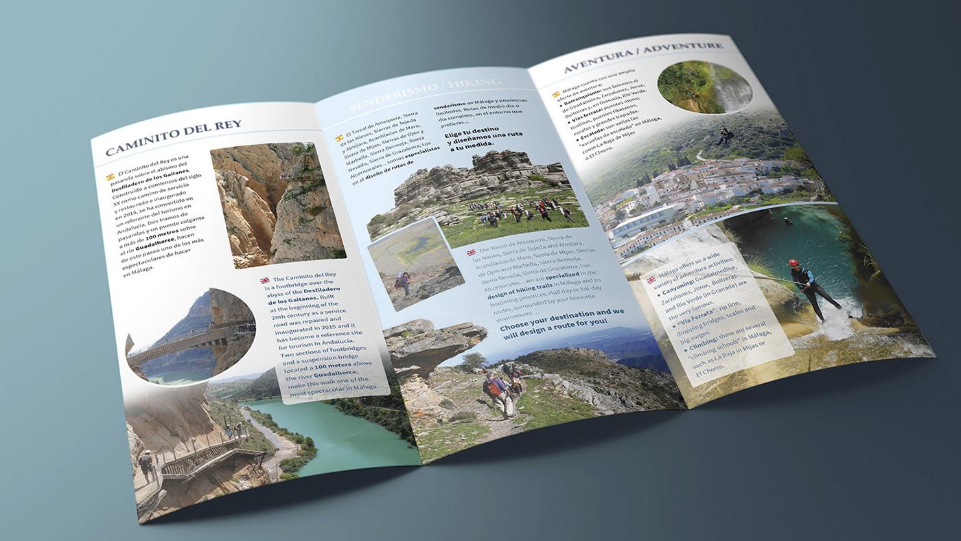 leaflet editorial brochure Nature Promotion Advertising  printed triptico naturaleza InDesign