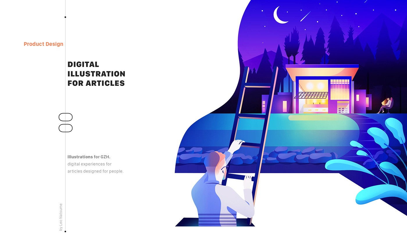 dccfa3ac0 Conceptual Illustrations - GZH Product Design on Behance