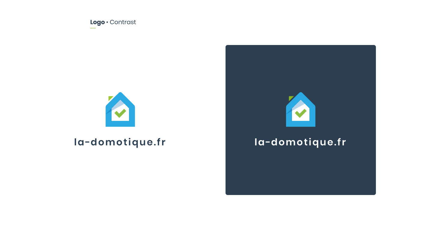 Variant of the smarthome logo depending on the contrast