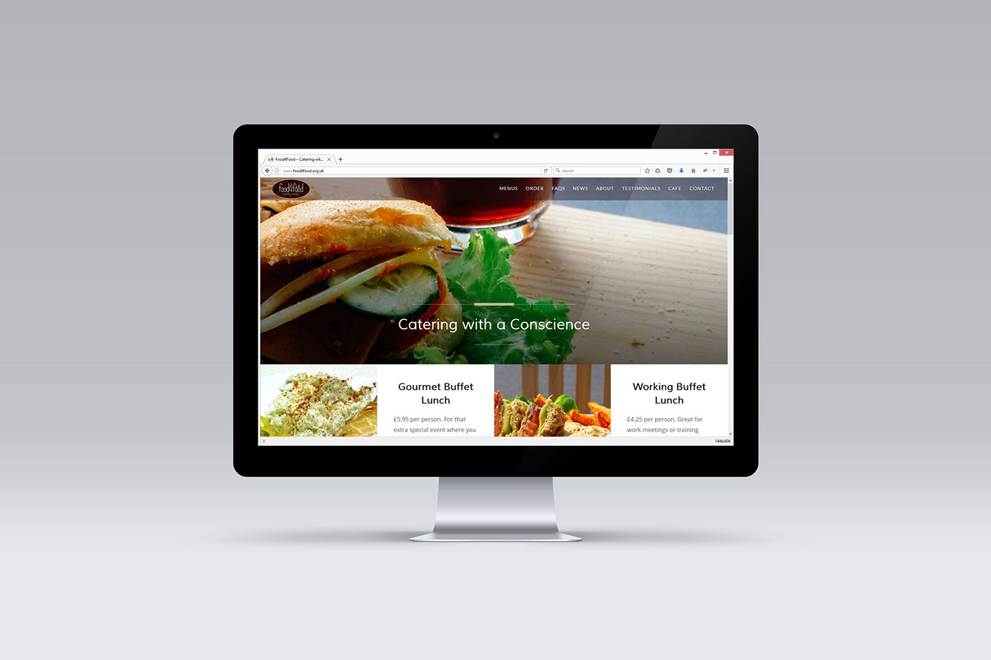 Website food4food wordpress Theme design