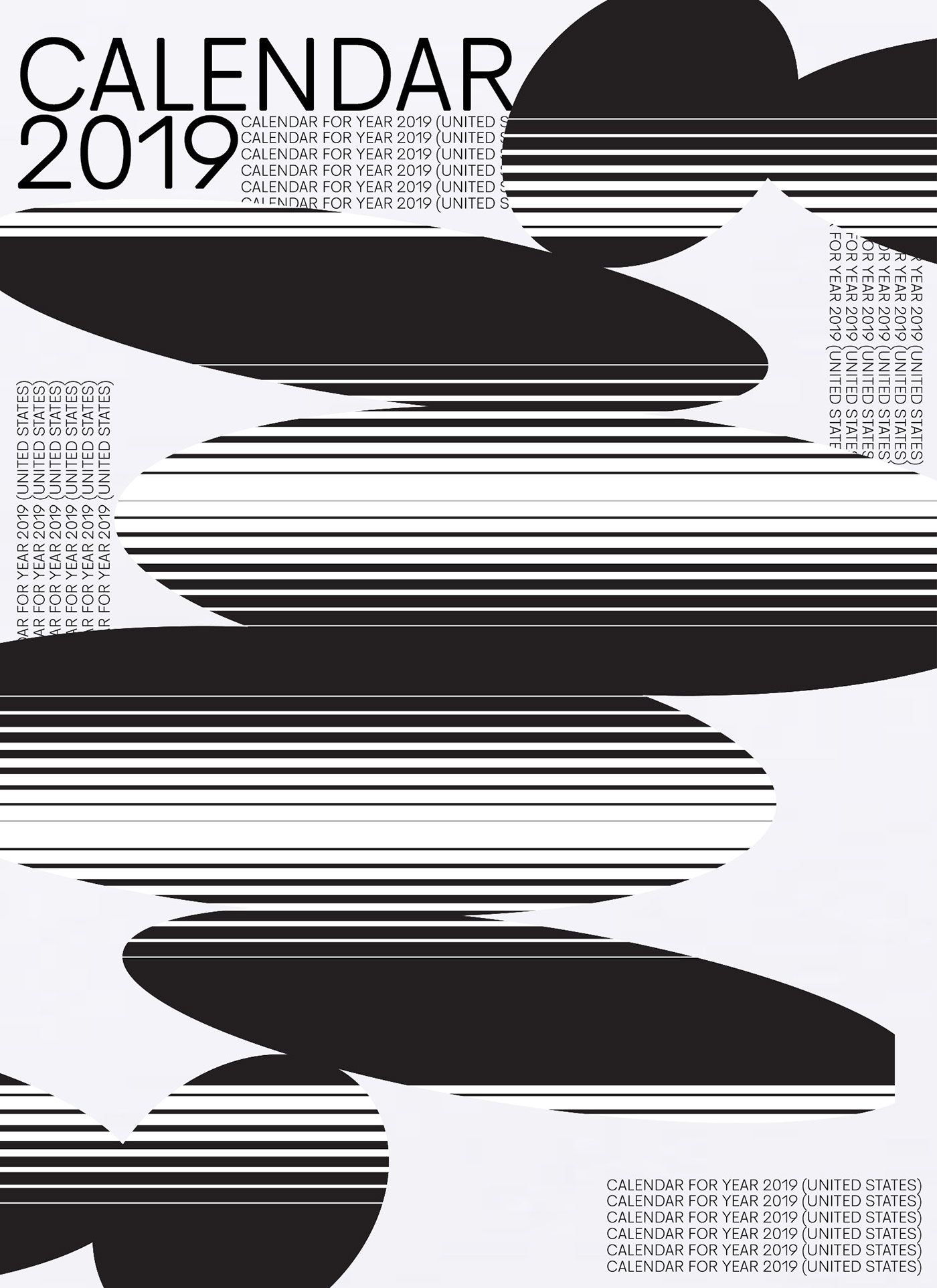 calendar 2019 on behance