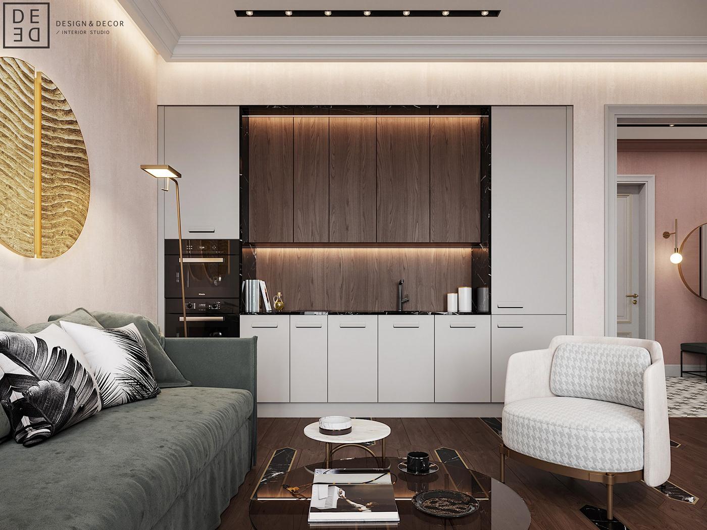 design DE&DE apartment Interior CoronaRender  DE&DE Interior Studio