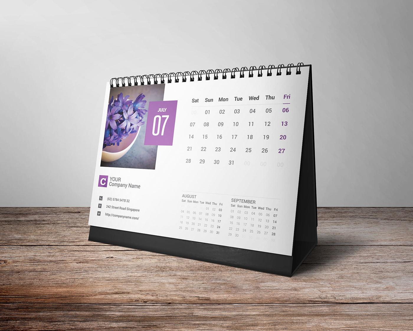 desk calender 2018 on behance