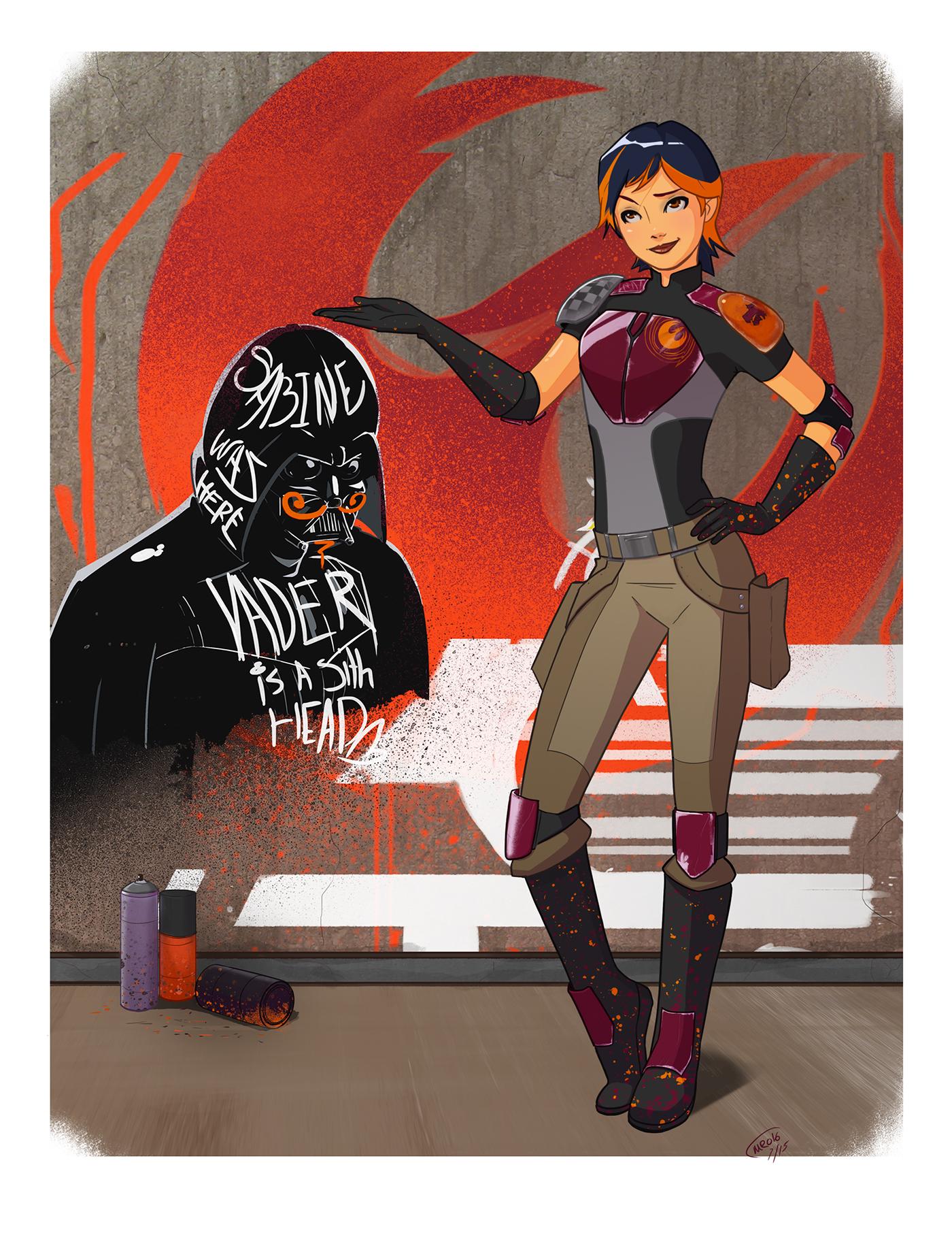 Star Wars Rebels: Sabine Commission on Behance