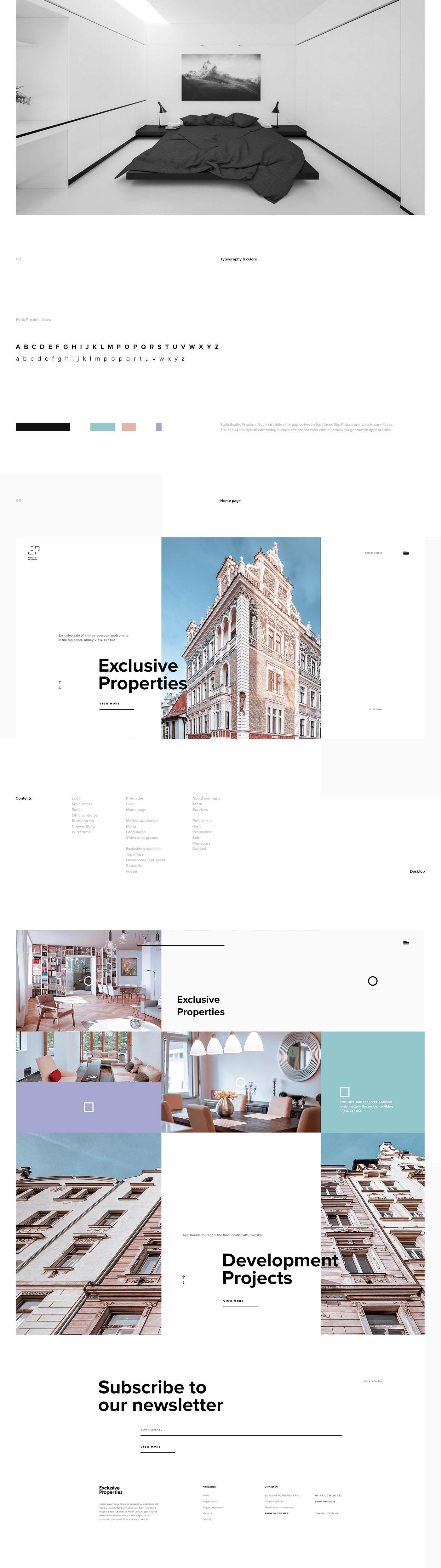 UI ux Web minimal inspire clean architecture desktop mobile White
