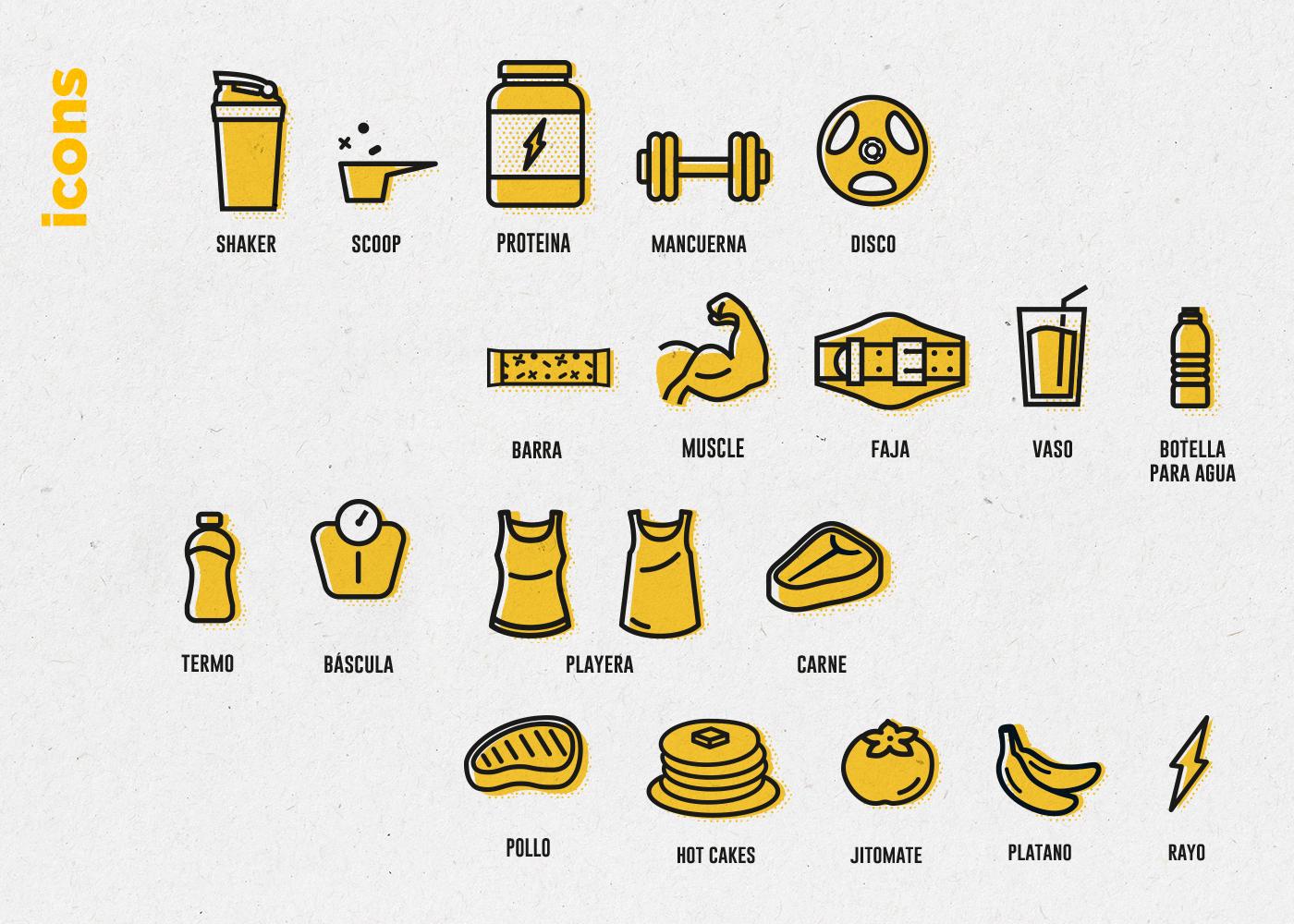 branding  design Health protein identity Coffee fitness