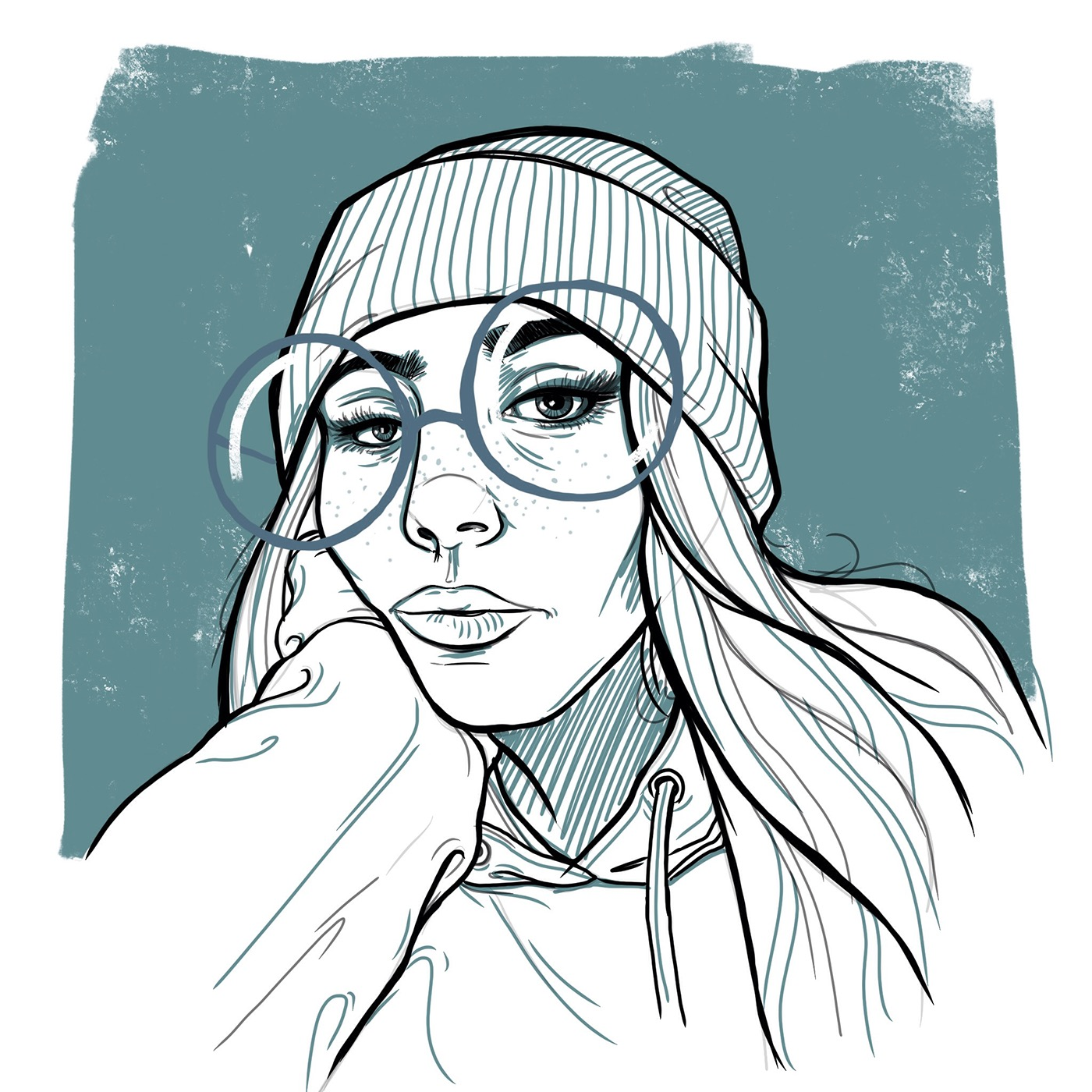 ILLUSTRATION  portraits lines Lime Work line drawing portrait digital print magazine spot illustration