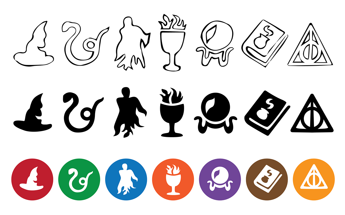 harry potter icons on behance
