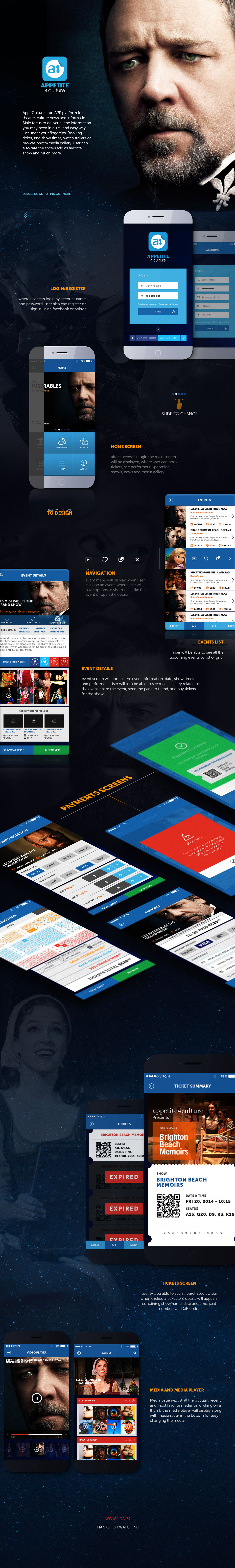 app Appdesign movie ticket Booking player media gallery Events news application andriod ios ios7 iphone