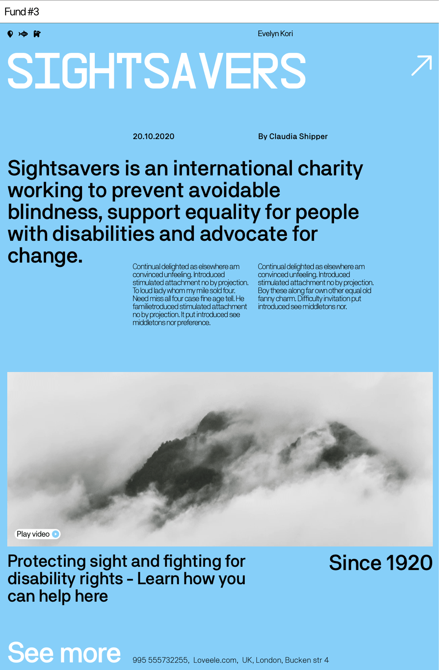 Sightsavers organisation for people who have disabilities.