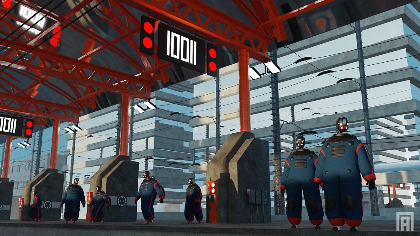 Image may contain: building, screenshot and clothing