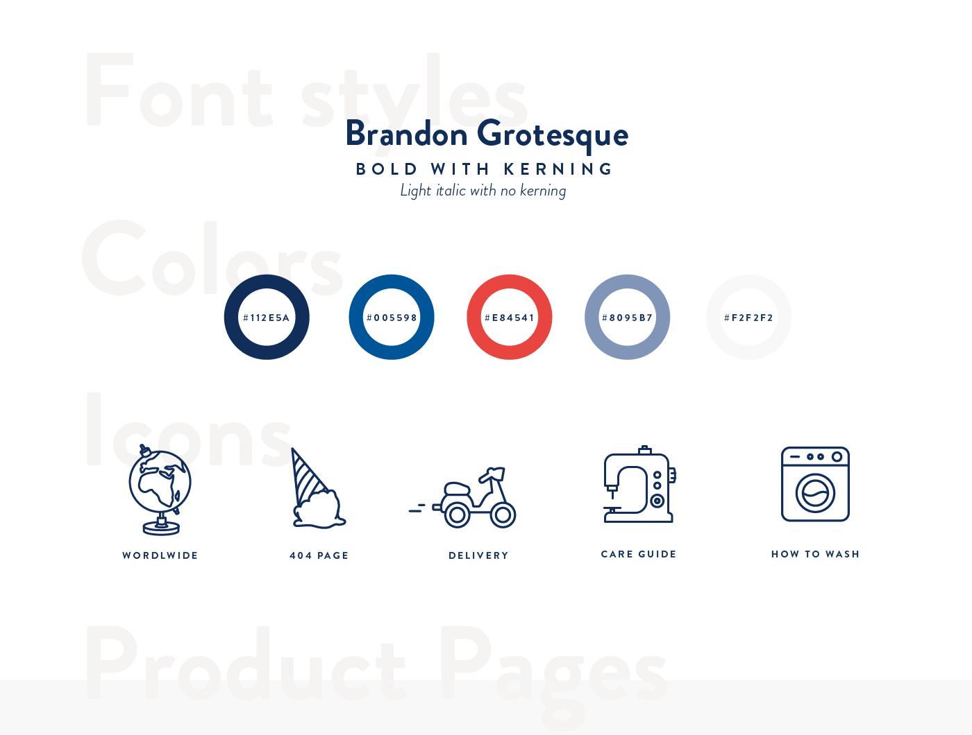 Ecommerce minimal Icon Interface UI ux White interactive Fashion  Website