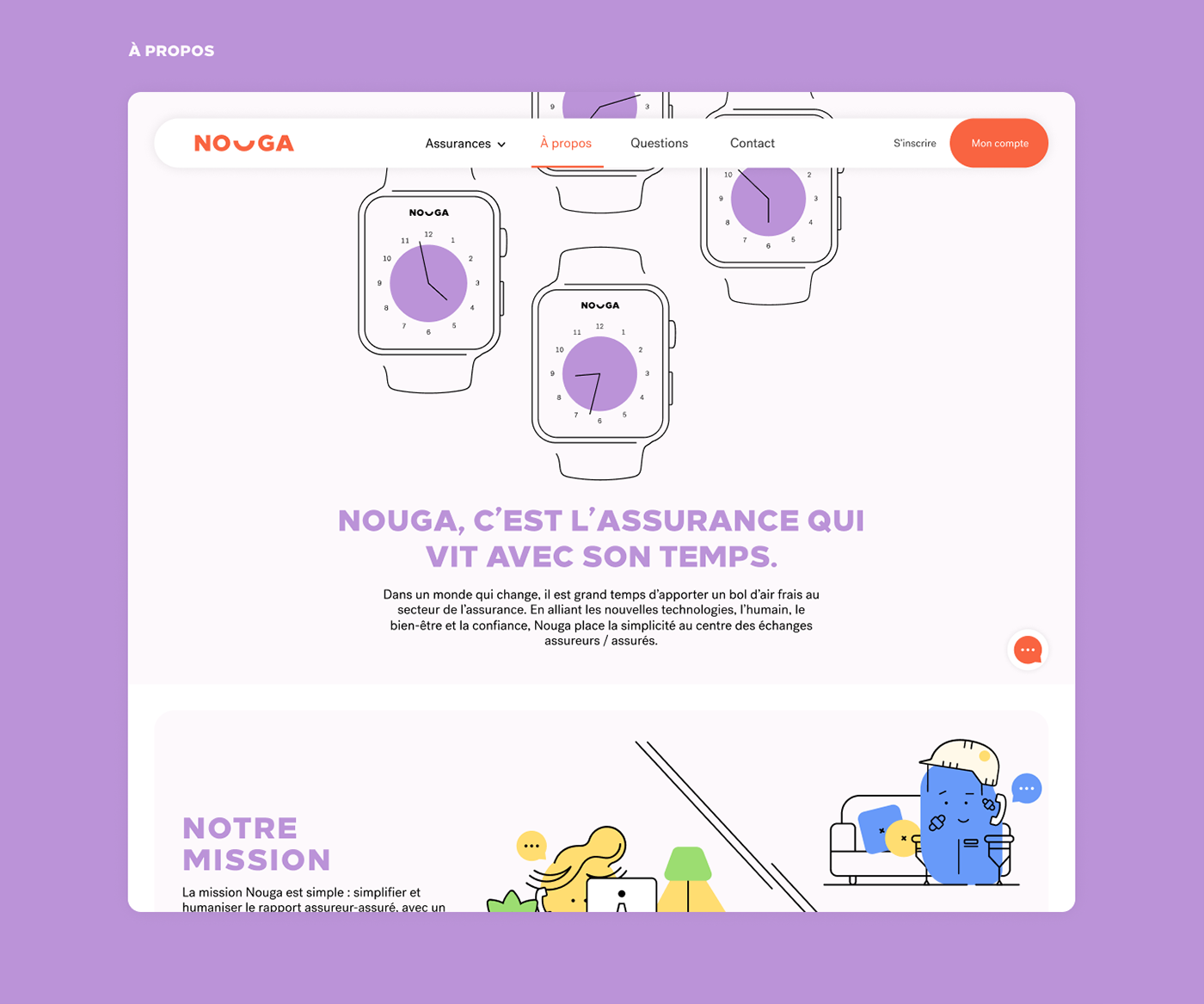 about page template, page à propos