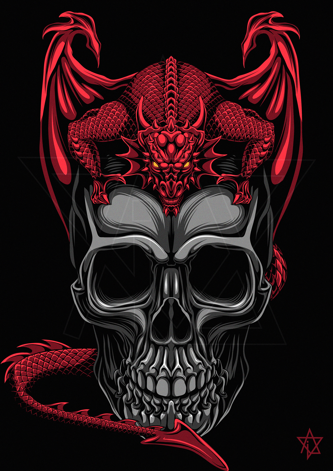 Image may contain: skull, cartoon and art