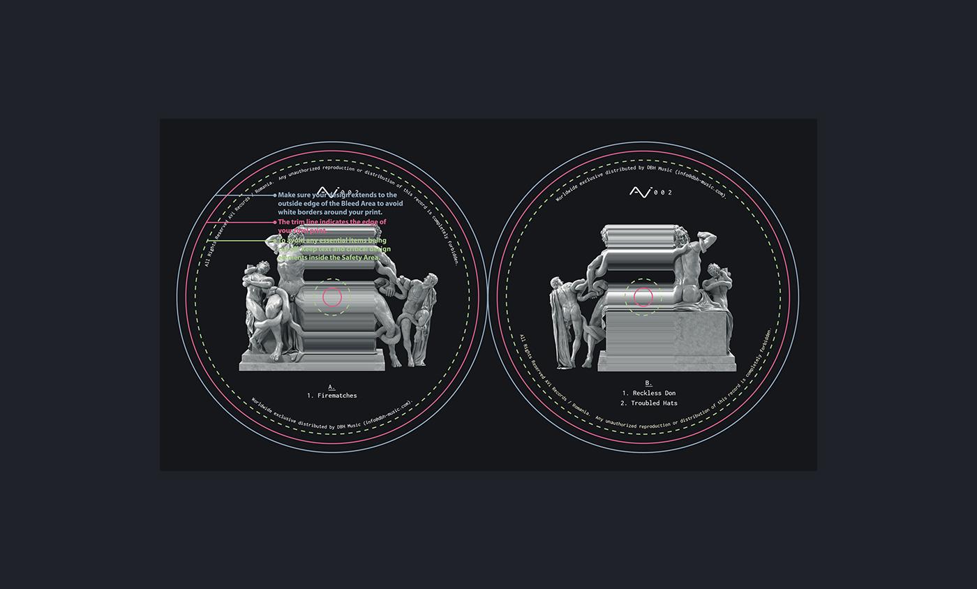 vinyl record VINYL ART Cover Art record cover art record label design label design techno music Club design