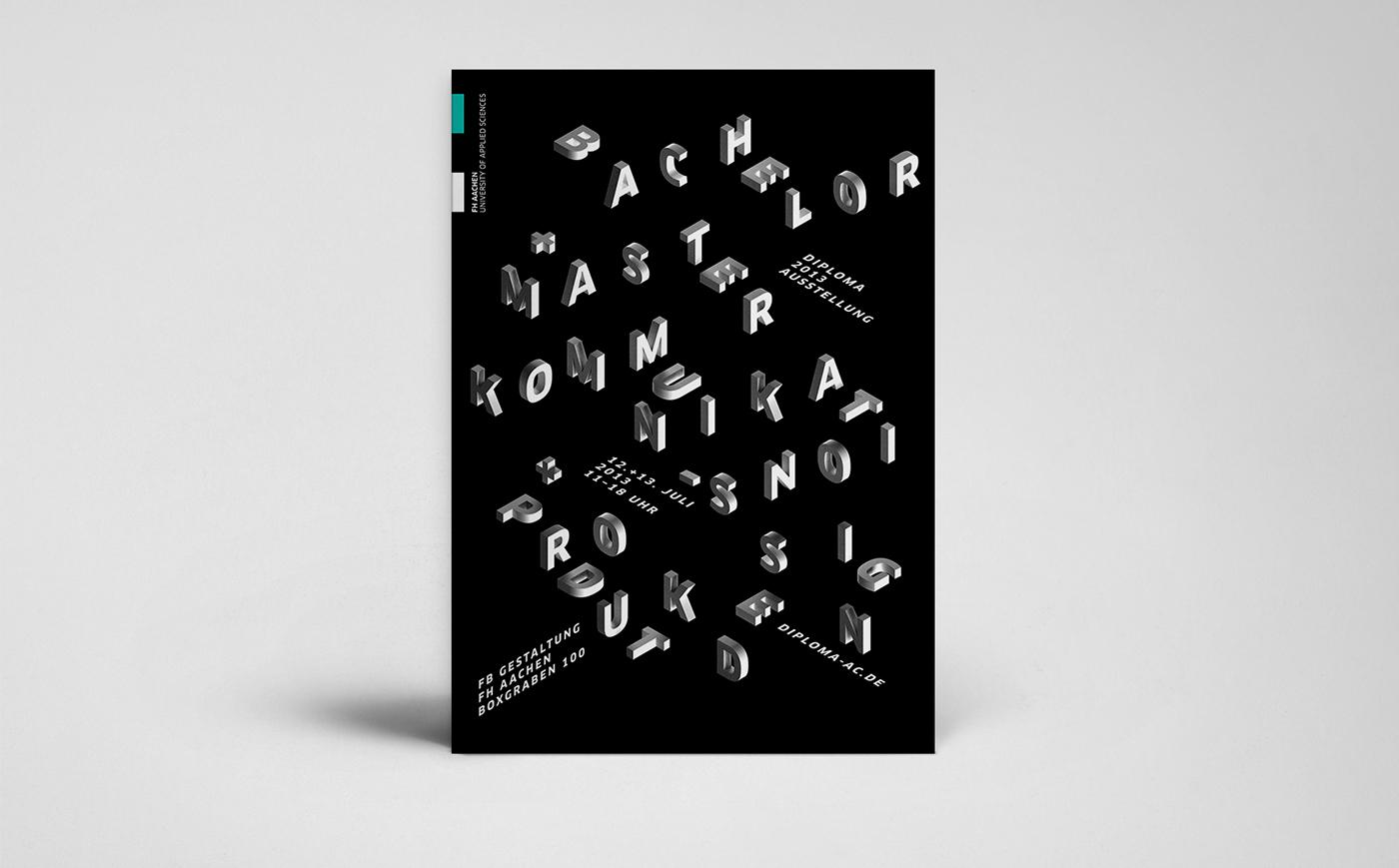 poster plakat Exhibition  Auststellung 3D
