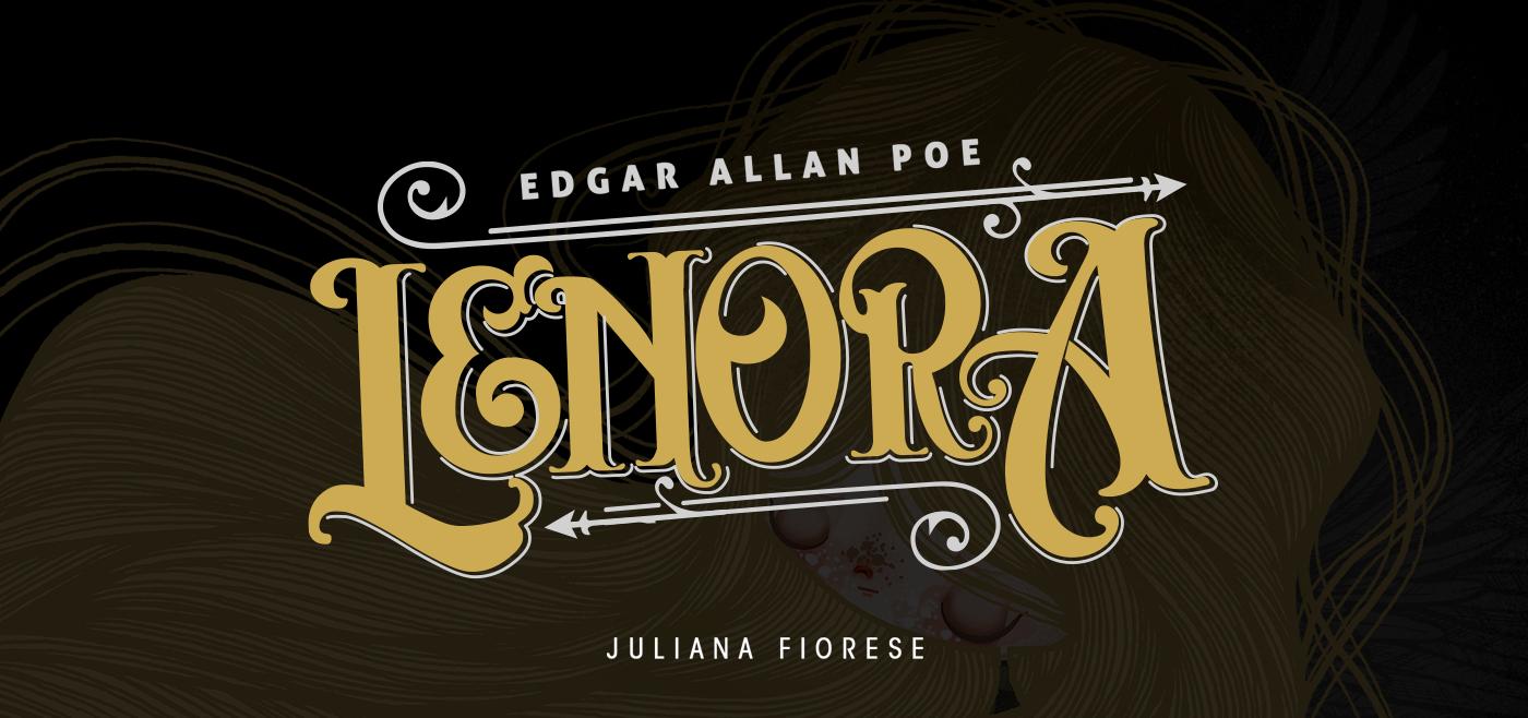 lenore   lenora Edgar Allan Poe allan poe juliana fiorese Comic Book hq quadrinhos História em Quadrinhos