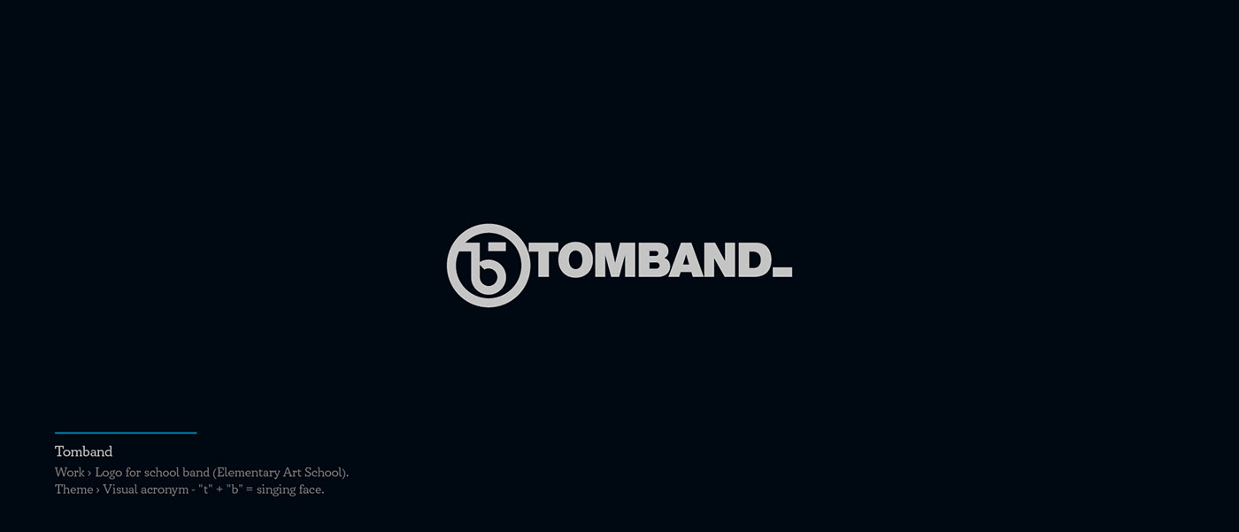 Tomband - school music band logo