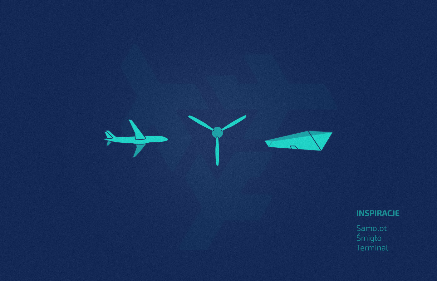 samolot lotnisko logo plane airport air triangle geometric