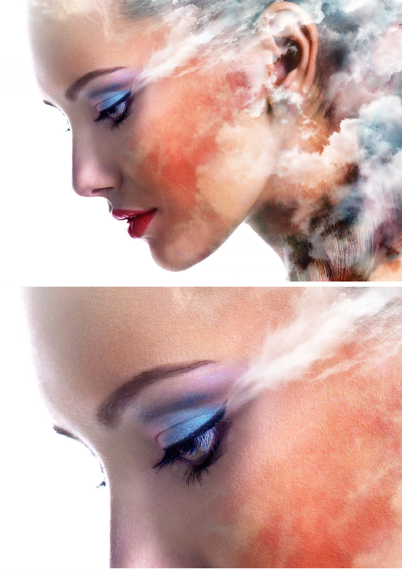 gaomon m106K graphic tablet girl beauty watercolor clouds Fashion  Emi Haze emi haze art