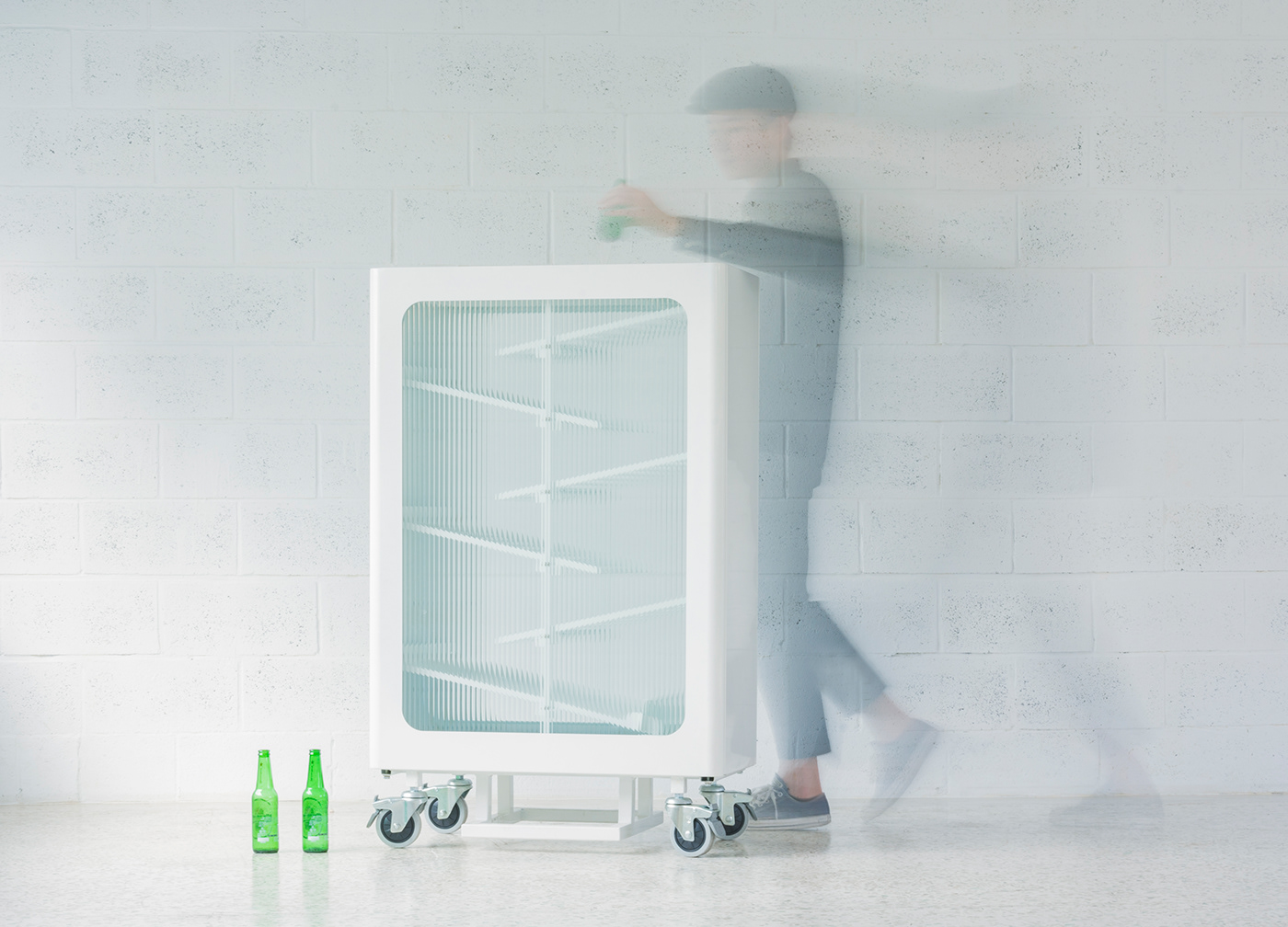 bottle glass interactive MORU GLASS product recycle if IF DESIGN TALENT AWARD