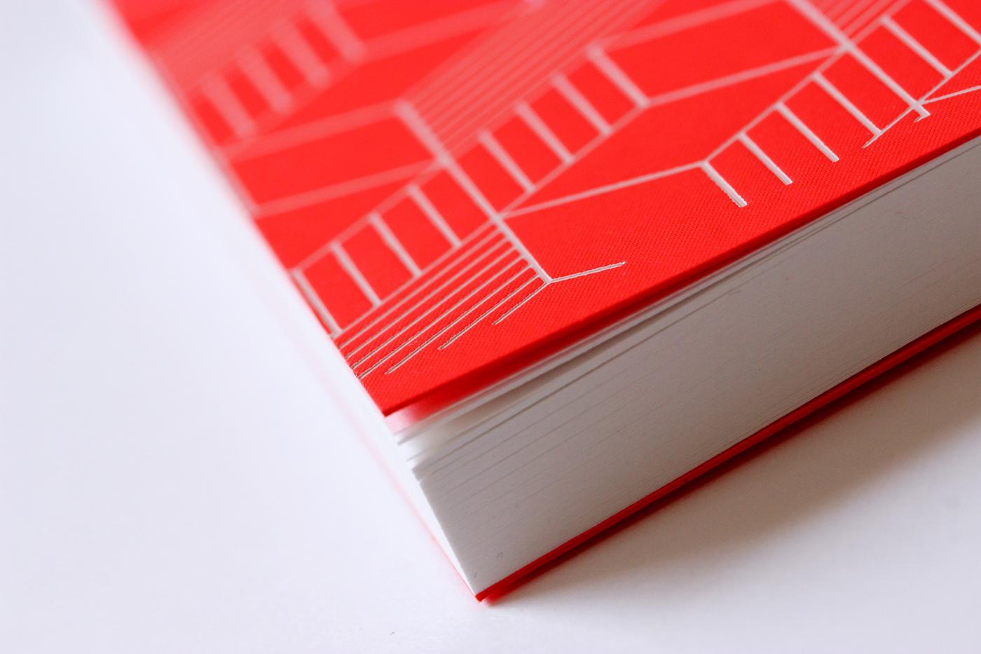 Stationery notebook geometric pattern neon