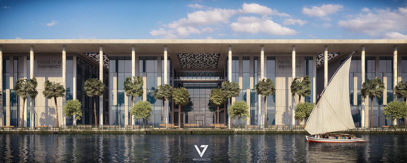 architecture Urban Design Landscape campus University college faculty rendering