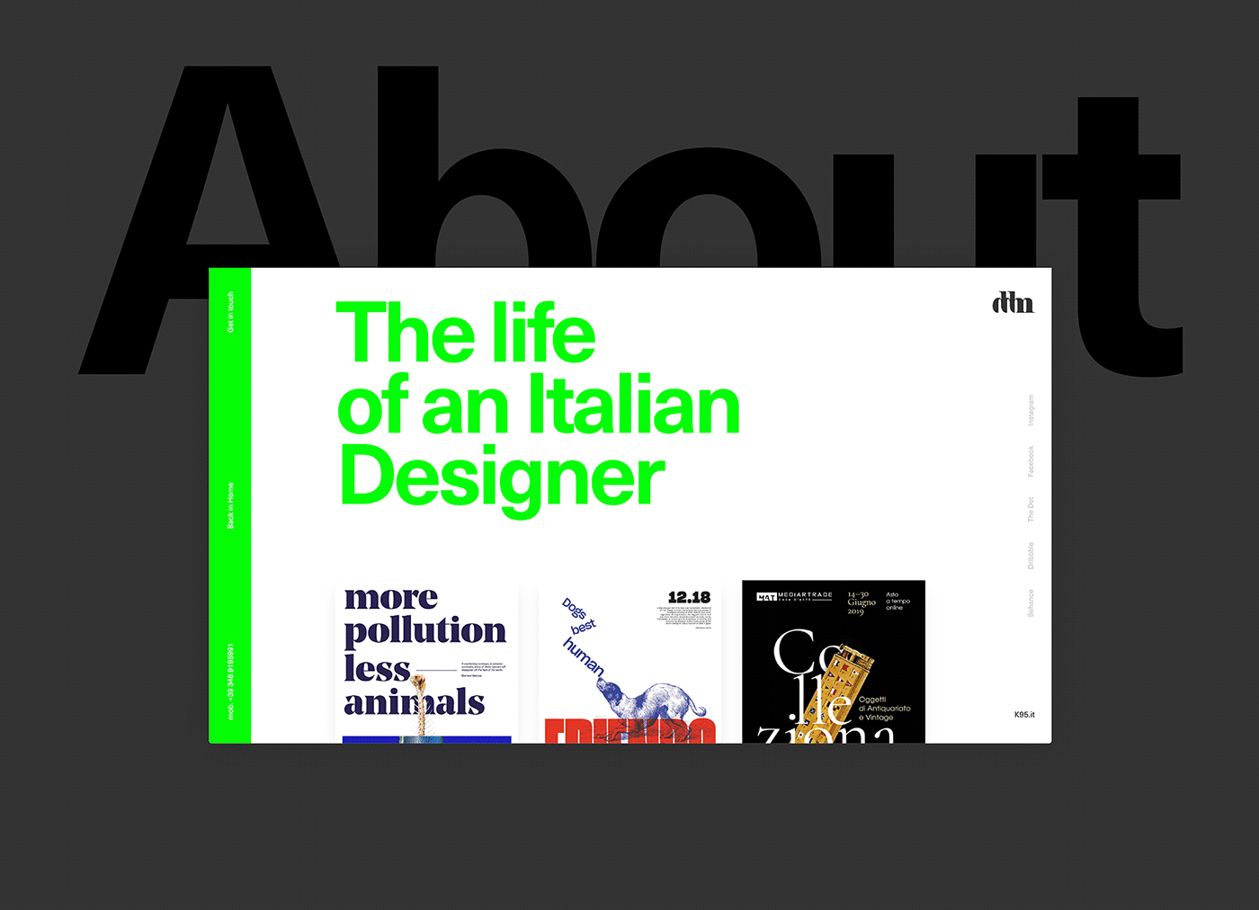 Webdesign portfolio works user interface Interface interaction graphic design