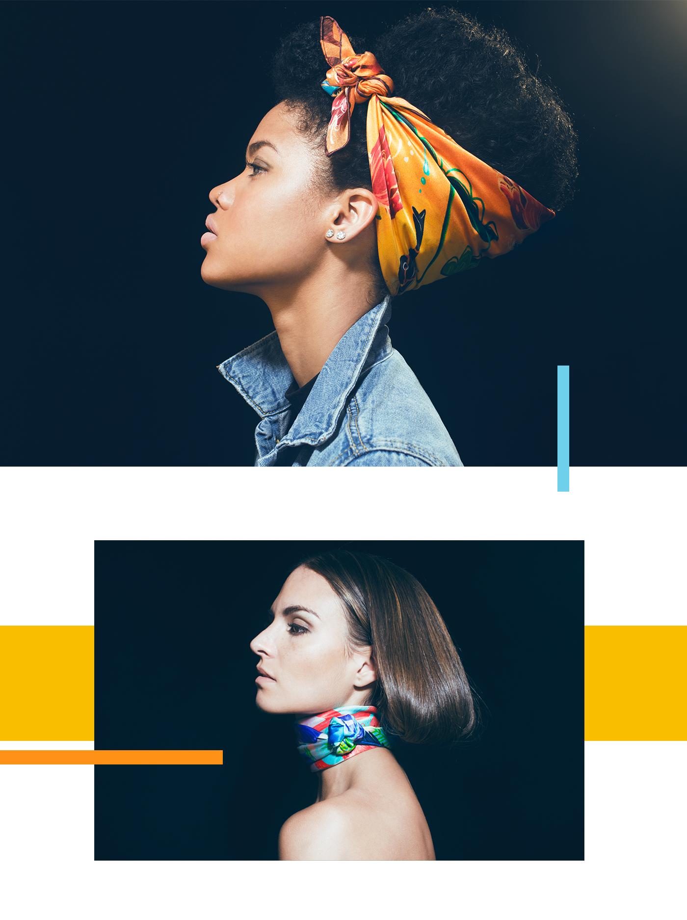 Fashion  Mode ILLUSTRATION  Behance photoshop Character SILK print