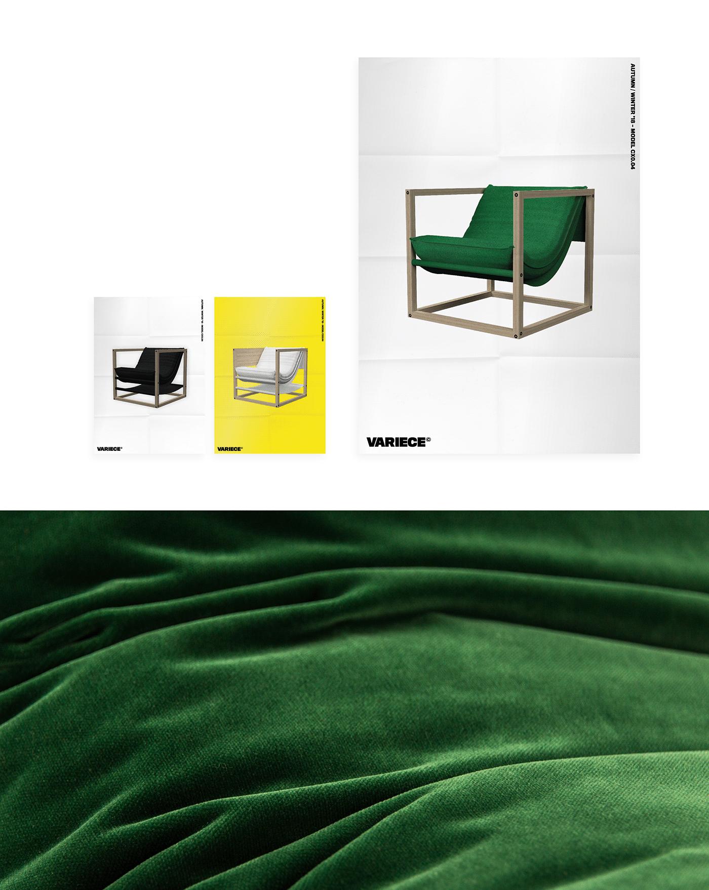 Corporate Design branding  product design  graphic design  furniture chair editorial design  Corporate Identity Photography  cinema 4d
