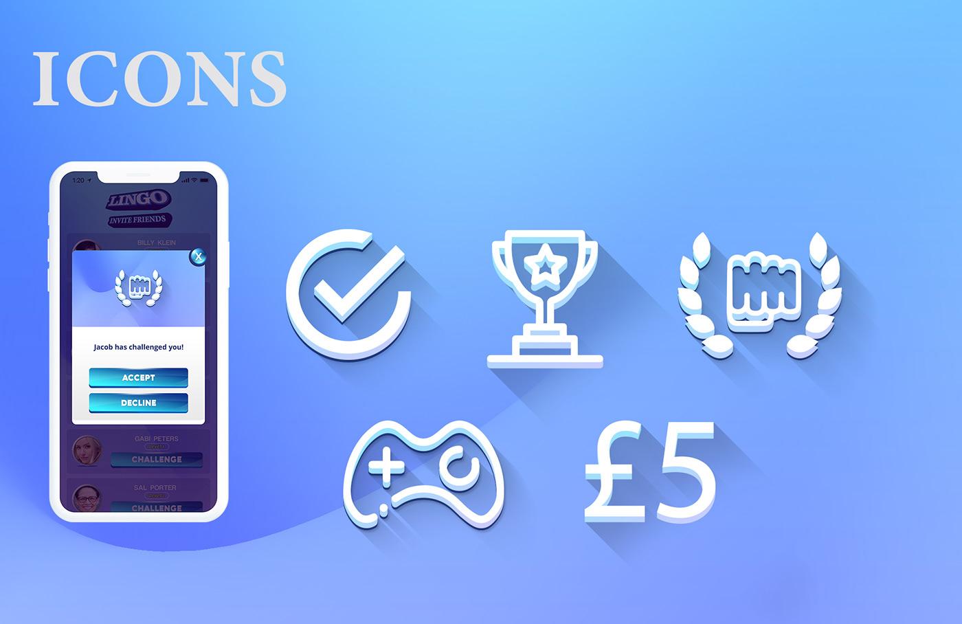 app ui app ux iphone app Android App wireframe prototype ui design game ui game icon word game