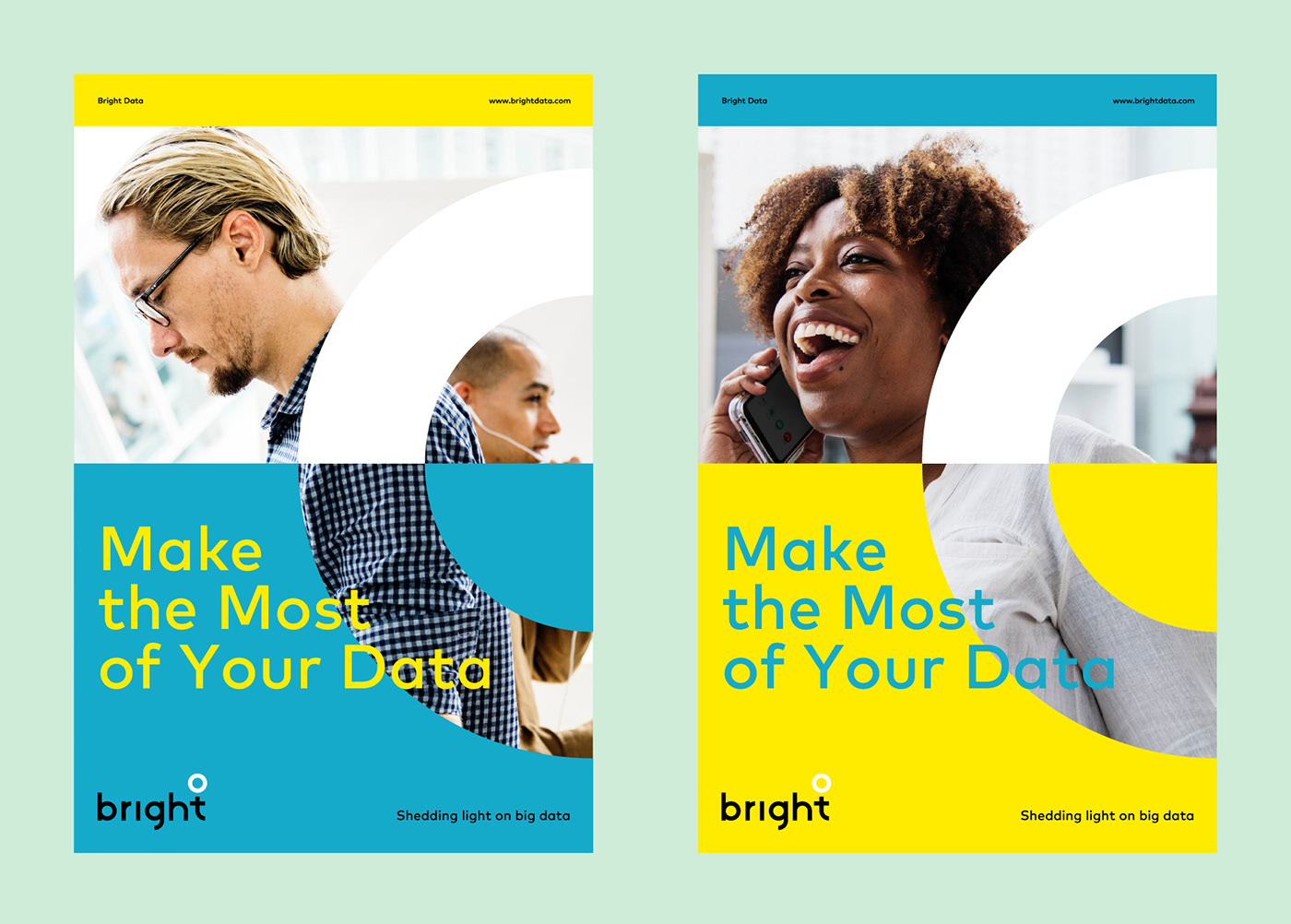 visual identity Website logo identity branding  marketing   Data brand Marketing collateral Logo Design
