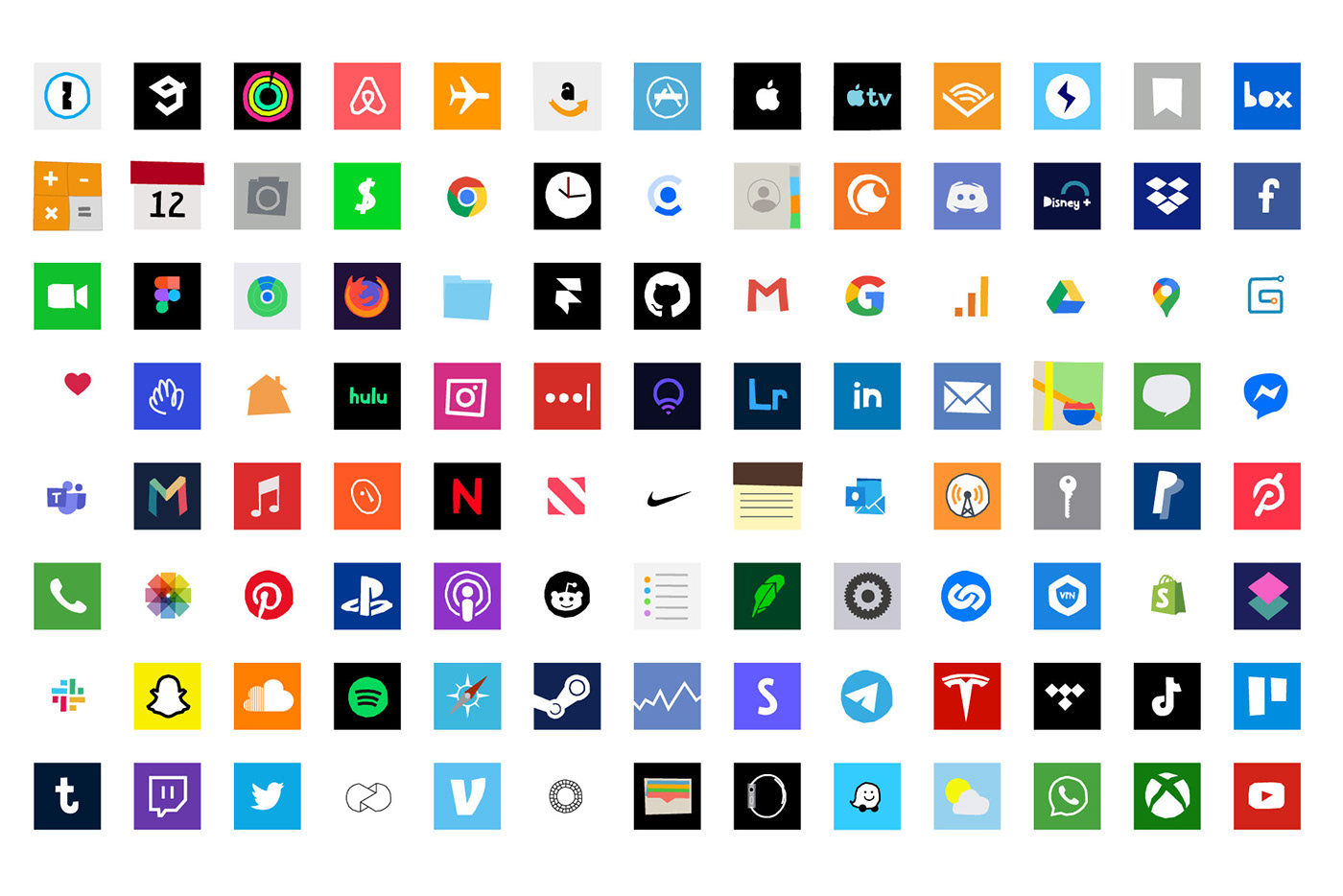 iphone illustrated icons