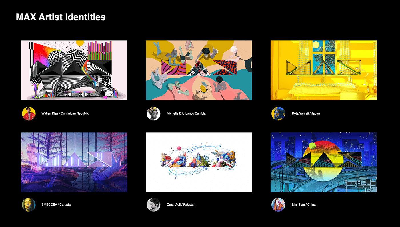 adobe Adobe MAX animation  branding  Collaboration design diversity Design in motion Event Graphics identity opart