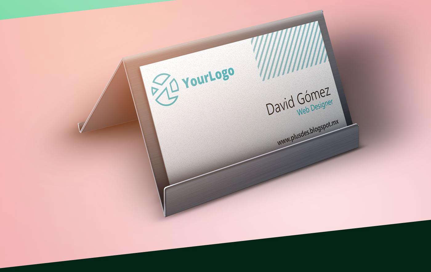 Free Trendy Business card Mockup on Behance