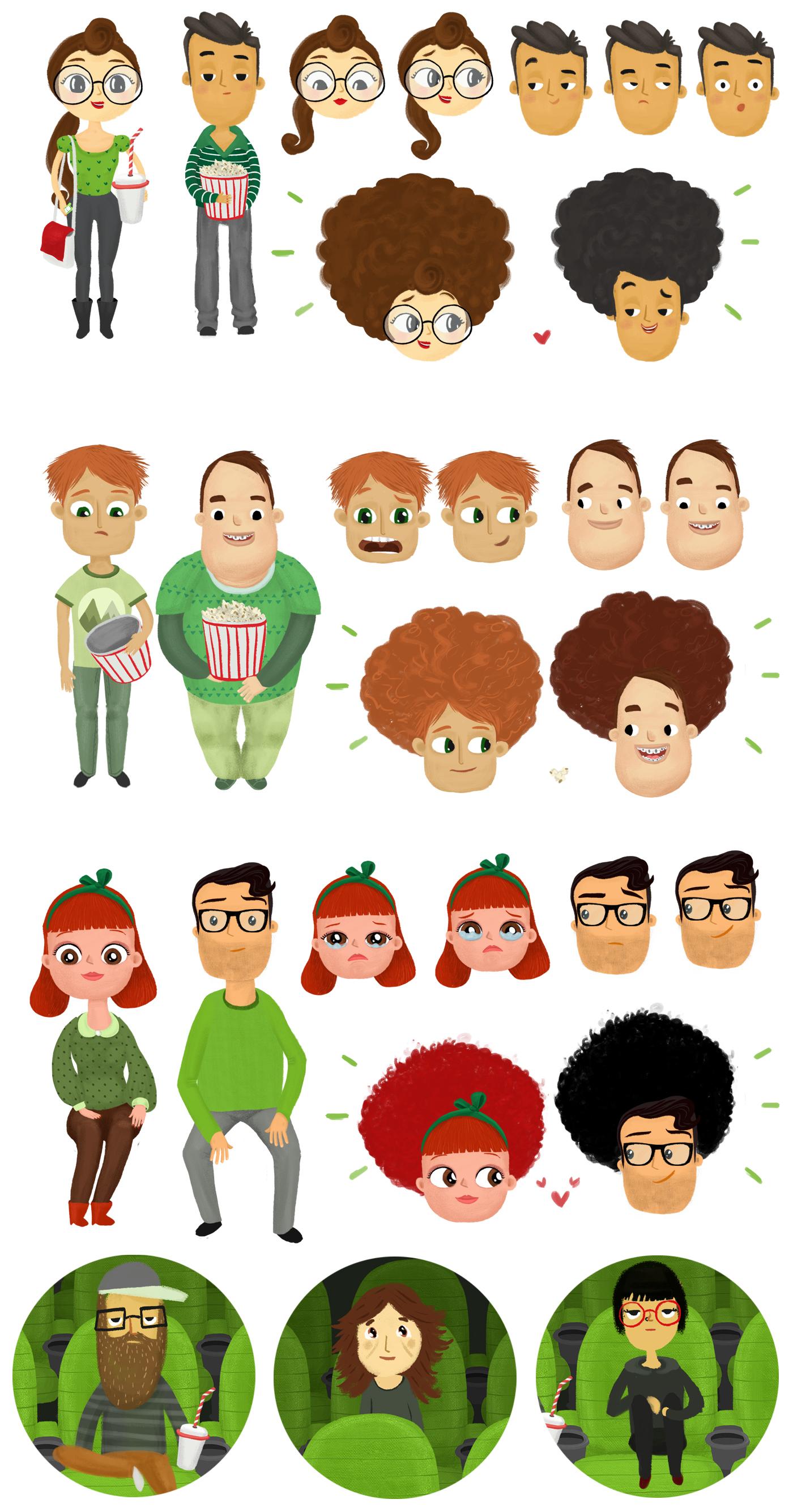 character animation Bonus Love Cinema movie theater garanti bonus 2D Animation popcorn