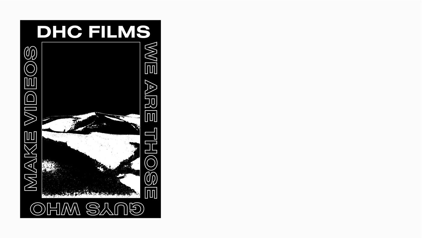 brand identity branding  DHC Films diseño de marca Diseño web Identidad Corporativa logo marca Web Design