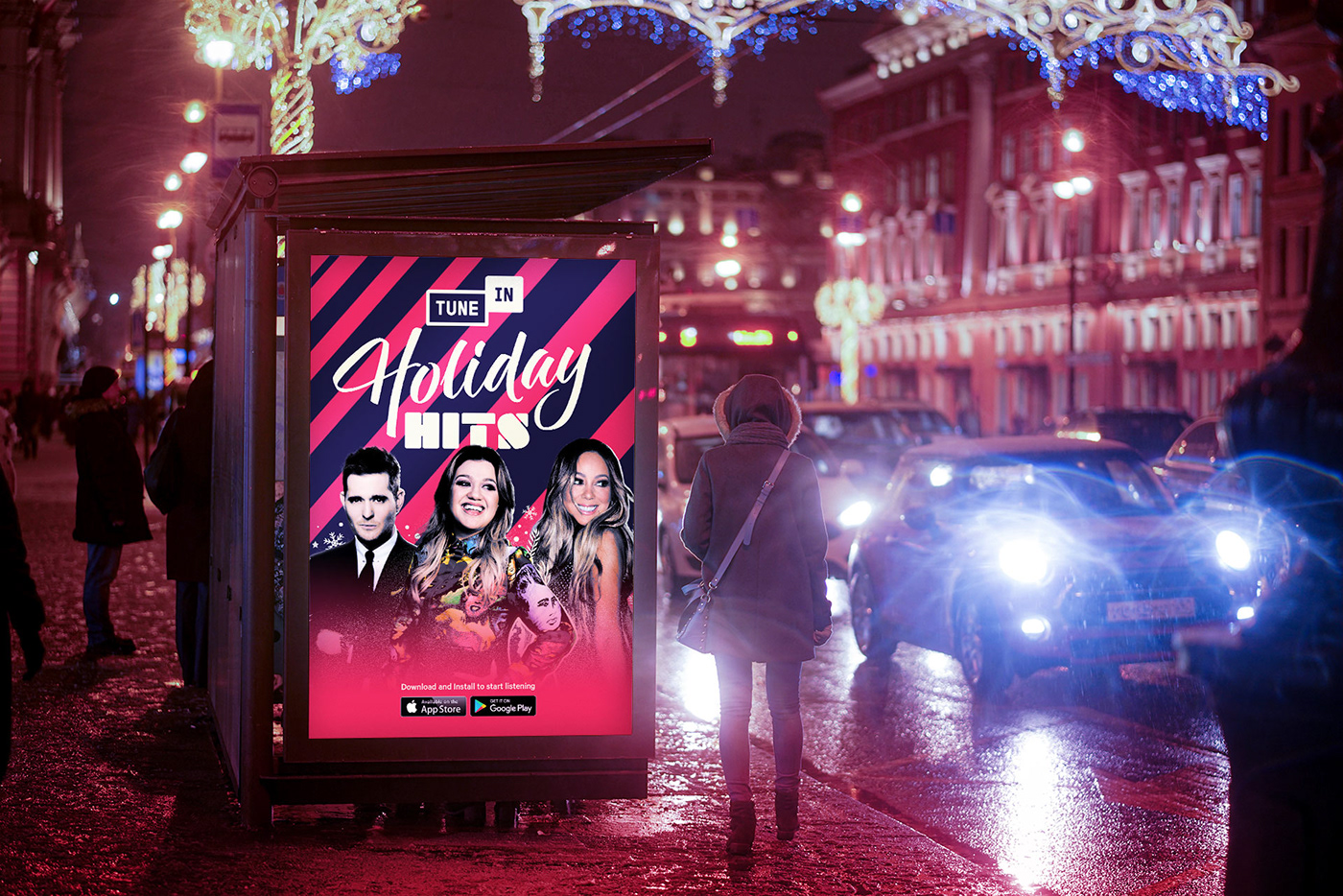 Advertising  campaign graphicdesign Holiday identity johnlegend Layout motion music Streaming