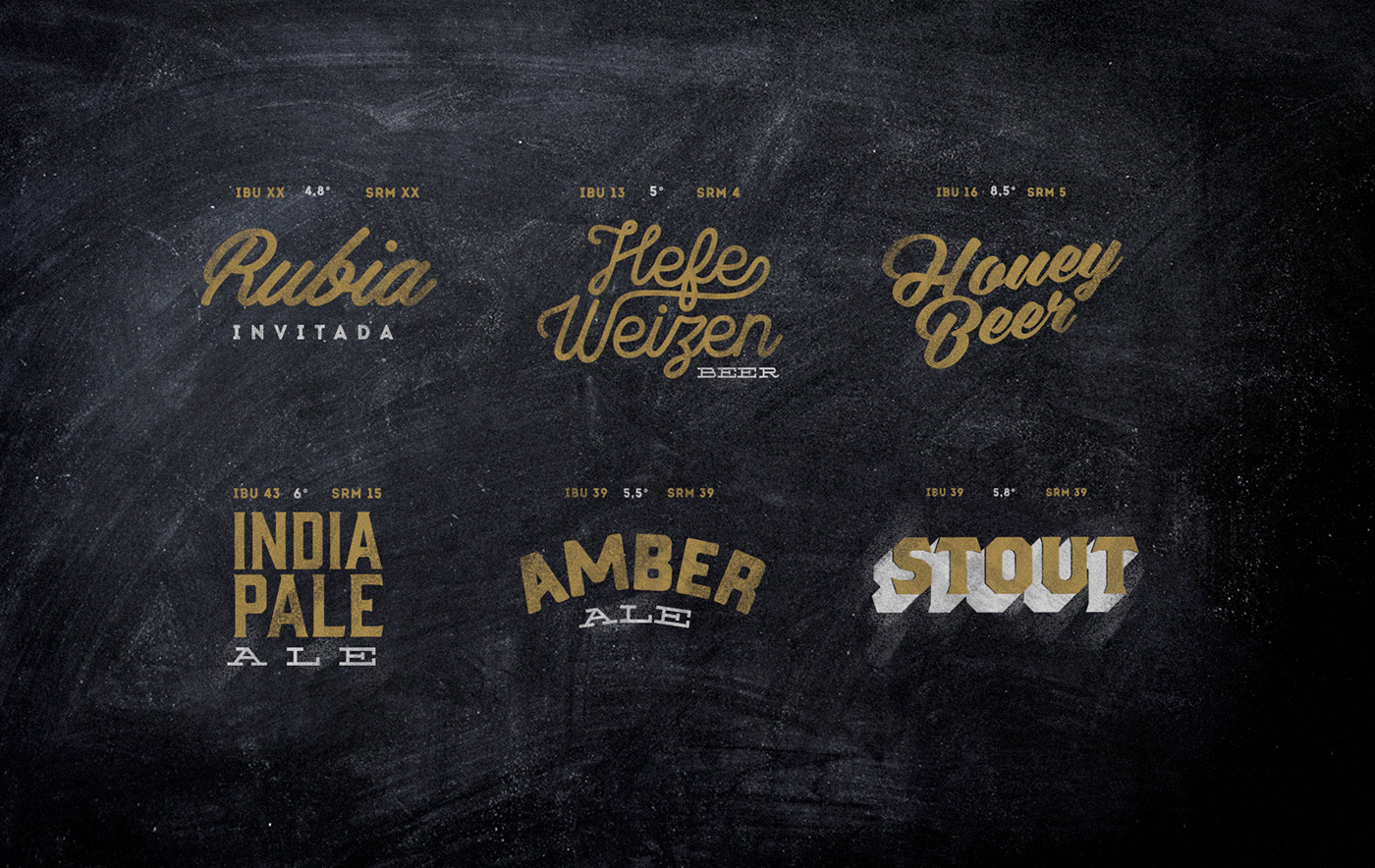 beer lettering archigraphy Nightlife handpainting infographics metallic industrial brewing restaurant