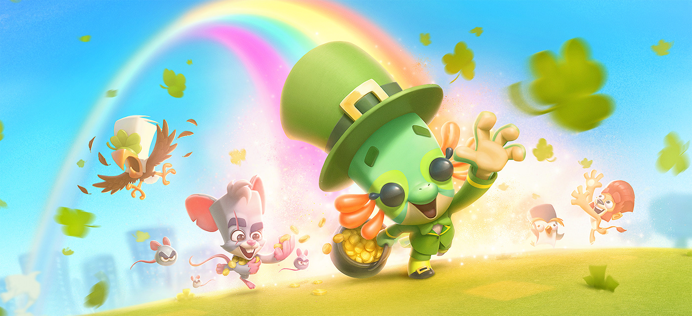 Zooba game Loading Screen for 2020 St. Patricks d that I made with André Forni and Julia Bax