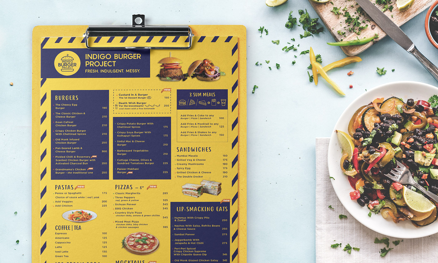 burger restaurant Fast food Food  sketchy menu Food truck collaterals Packaging Pizza