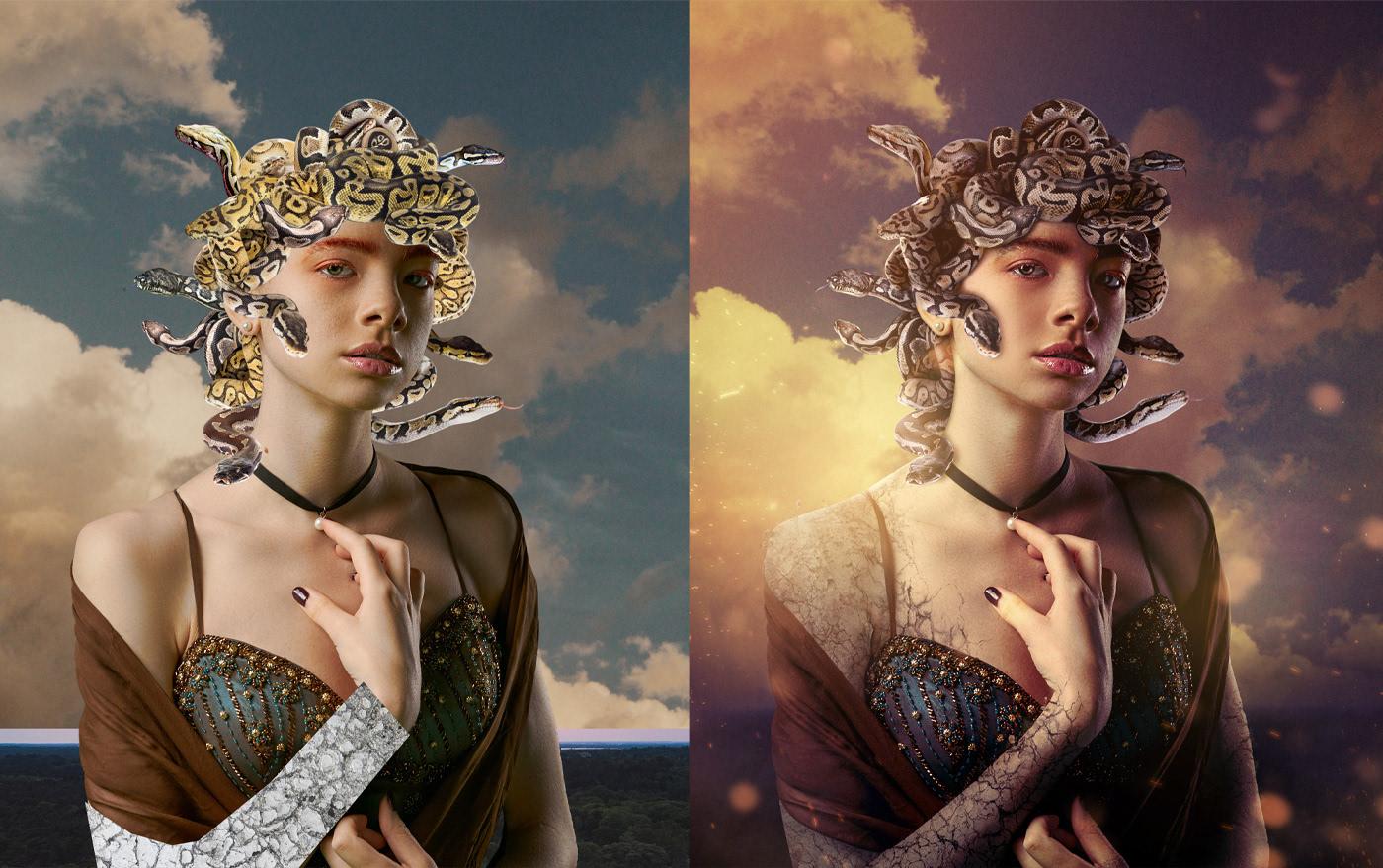 bashing,compositing,Creative Retouching,Matte Painting,Photo Manipulation ,photoshop,medusa,retoucher,Digital Art