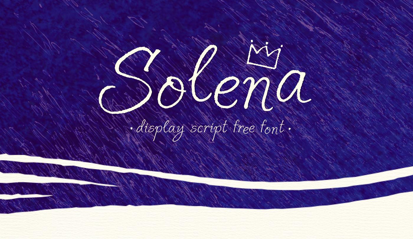 solena ruling pen font Free font handwritten ink texture brush expressive creative summer