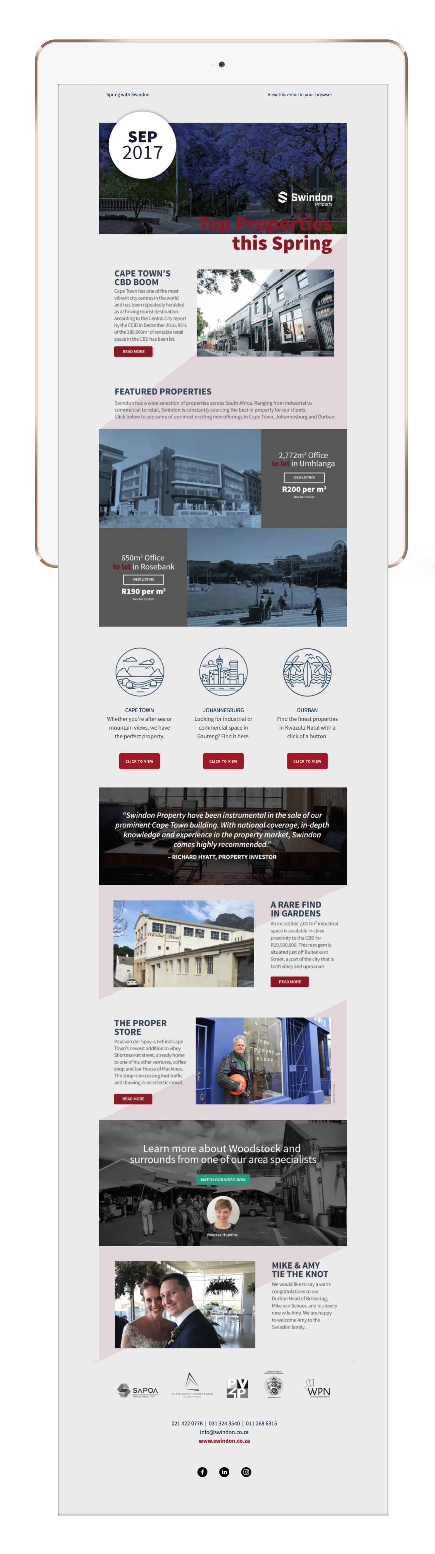 mailer design mailchimp graphic design  property mailer newsletter Spring Mailer